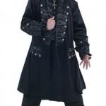 Gotycki płaszcz męski